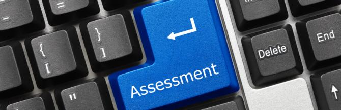 Keyboard with assessment key